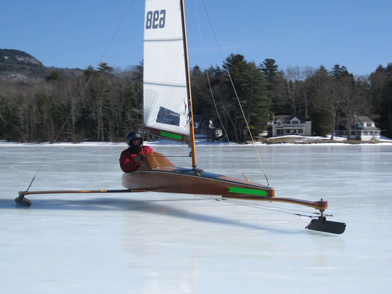Skeeter for sale chickawaukie ice boat club for Ice scratcher boat motor for sale