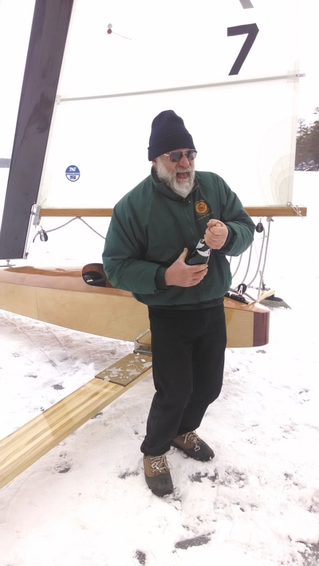 He s been a building for a couple of years so it had to be doubly sweet to  both find the ice and then sail the boat. Paul certainly looks happy here  58b7b5d43282