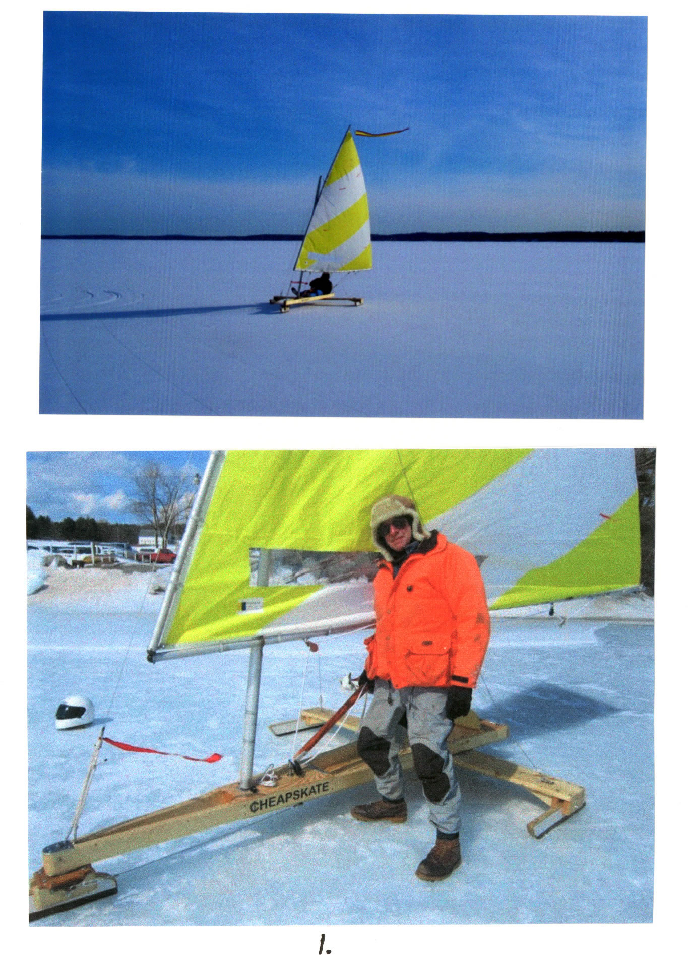 Cheapskate on skeeter ice boat plans