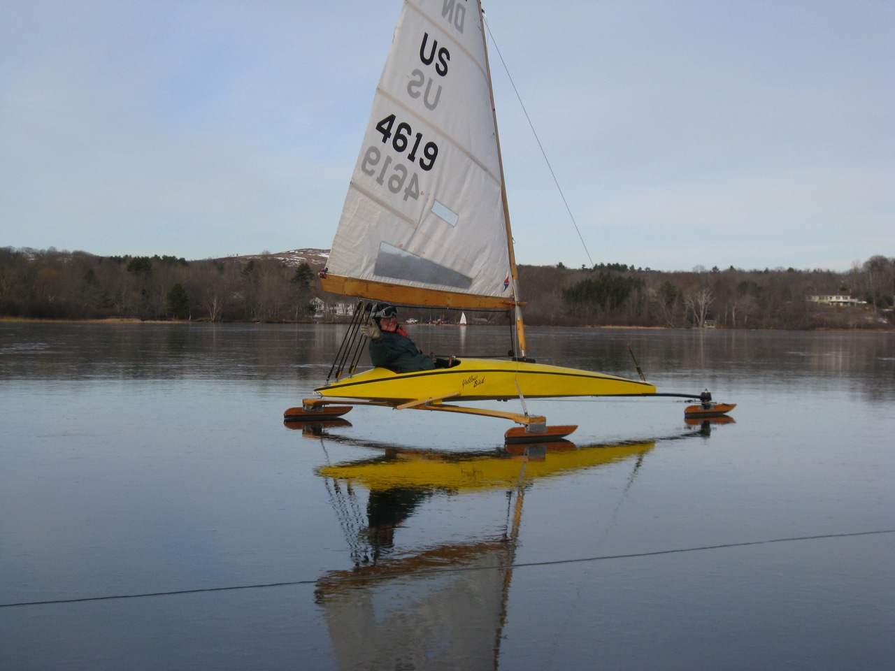 Ice boats for sale chickawaukie ice boat club for Ice scratcher boat motor for sale